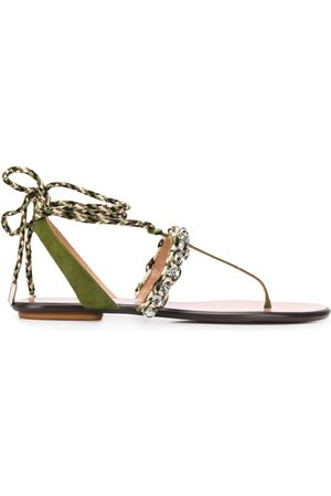 Aquazzura Surf wrap-around flat sandals