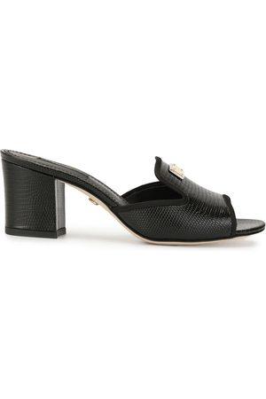 Dolce & Gabbana Sandalias con tacón grueso y efecto de piel de lagarto