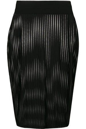 MAISON CLOSE Mujer Estampadas - Falda recta a rayas