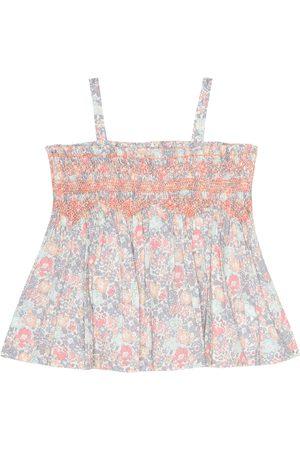 BONPOINT Bebé Tops - Baby Naelie floral cotton top