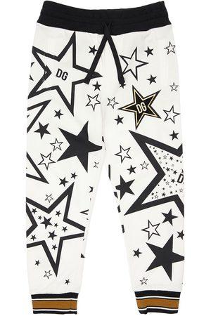Dolce & Gabbana Pantalones Deportivos De Algodón Con Estampado