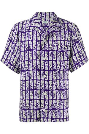 Kenzo Mermaids-print short-sleeved shirt