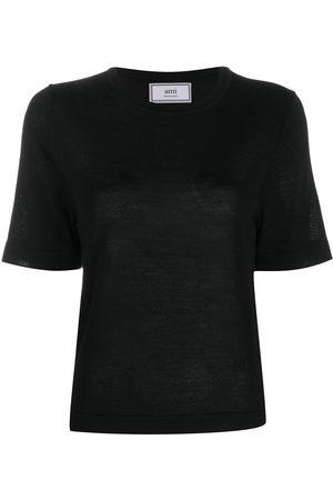 Ami Mujer Suéteres - Suéter manga corta con cuello redondo