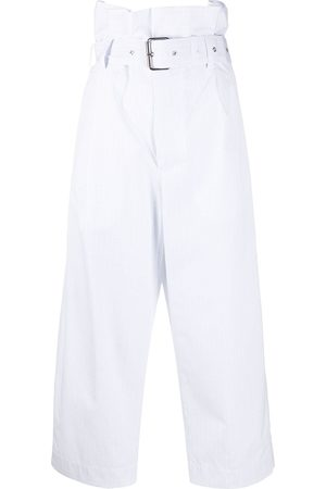 Plan C High waisted cropped trousers