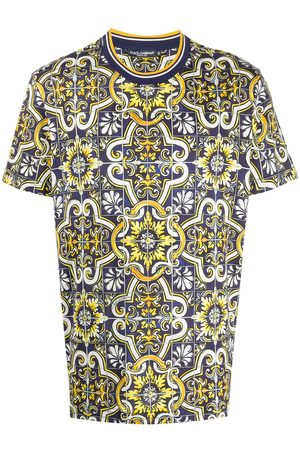Dolce & Gabbana Hombre Playeras - Camisa con estampado de mosaicos