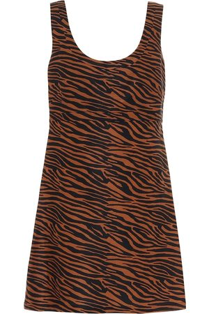 Lisa Marie Fernandez Zani zebra-print minidress