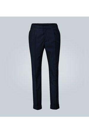 OFFICINE GENERALE Pleated cotton pants