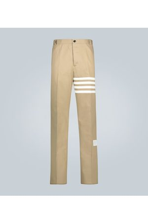 Thom Browne Hombre Chinos - 4-Bar cotton twill pants