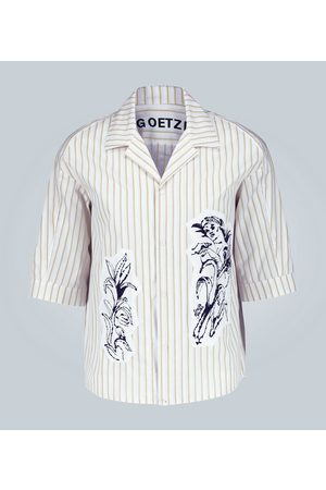 GOETZE Striped shirt with printed panels