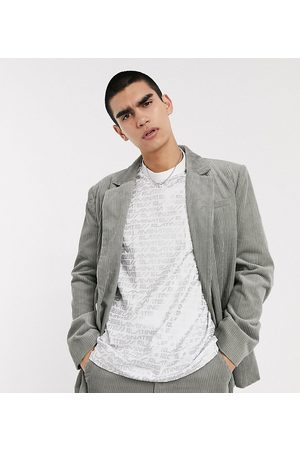 COLLUSION Oversized cord blazer in grey