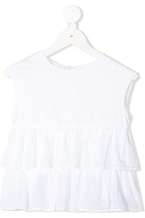 Il gufo Sleeveless layered frills top