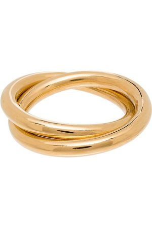 LOREN STEWART Gold-plated two-link rings