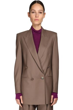 PETAR PETROV Double Breasted Merino Wool Jacket
