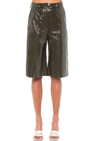 DODO BAR OR Shorts De Piel Efecto Cocodrilo
