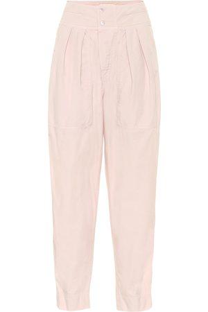 Isabel Marant, Étoile Mariz high-rise cropped cotton pants