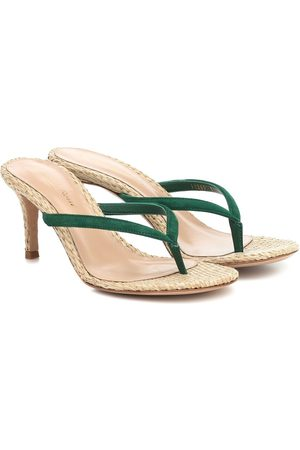 Gianvito Rossi Exclusive to Mytheresa – Calypso 70 raffia sandals