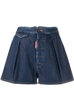 Dsquared2 Shorts de mezclilla con pliegues