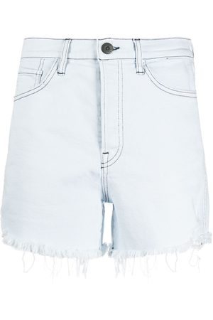 3x1 Frayed-hem denim shorts