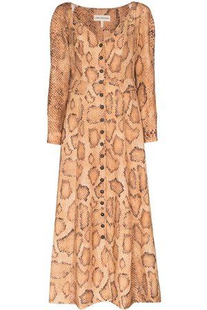 Mara Hoffman Silvana snake print midi dress
