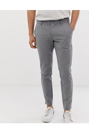 Only & Sons Slim tapered fit trousers in grey