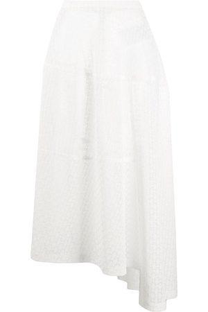 Jil Sander Mujer Minifaldas - Crochet-lace asymmetric midi skirt