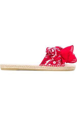 MANEBI Mujer Flip flops - Bandana-print slides