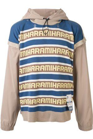 Maison Mihara Yasuhiro Hombre Con capucha - Sudadera a capas con capucha y logo