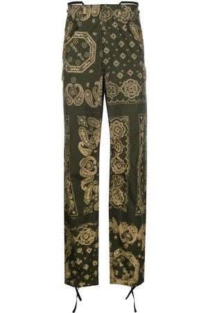 Golden Goose Bandana-print straight trousers