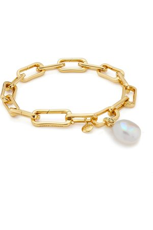 Pulseras - Gold Vermeil Alta Capture and Pearl Bracelet Set