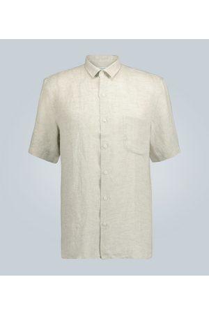 Sunspel Short-sleeved linen shirt