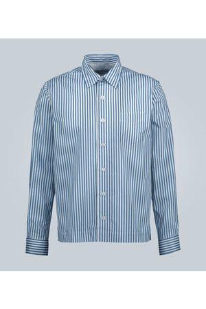 OFFICINE GENERALE Bob striped cotton shirt