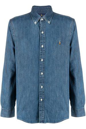 Polo Ralph Lauren Camisa de mezclilla con botones y logo