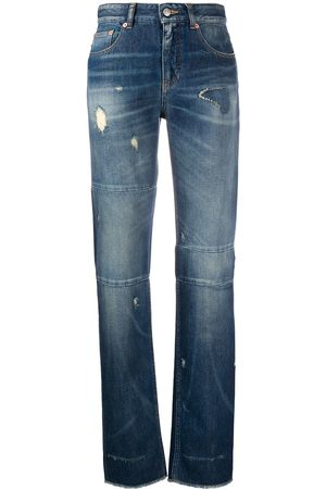 MM6 MAISON MARGIELA Mujer Rectos - Distressed straight-leg jeans