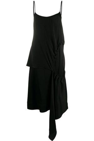 Colville Vestido asimétrico con abertura fruncida