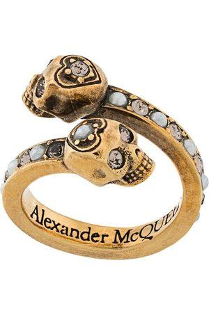 Alexander McQueen Mujer Anillos - Anillo cruzado con calavera