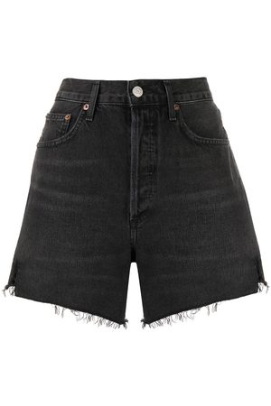 AGOLDE Shorts de mezclilla deshilachados