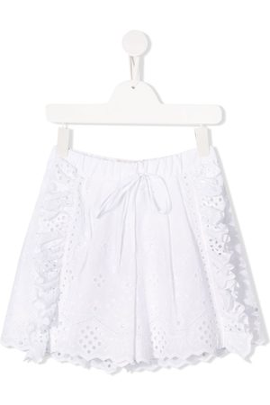Alberta Ferretti Embroidered ruffled shorts