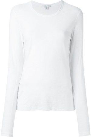 James Perse Camiseta con cuello redondo de manga larga