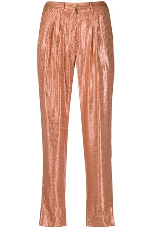 FORTE FORTE Glossy finish trousers