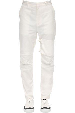 AMBUSH Pantalones Deportivos De Algodón Con Bolsillo