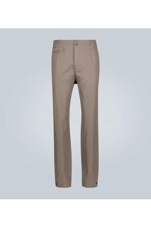 Rochas Buttoned wool-blend pants