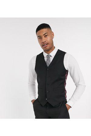 ASOS Tall slim suit waistcoat in black