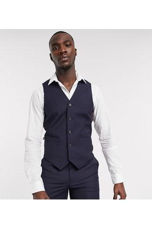 ASOS Tall slim suit waistcoat in navy