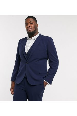 ASOS Plus super skinny suit jacket in four way stretch in navy