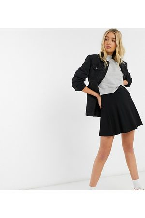 ASOS Mujer Minifaldas - ASOS DESIGN Tall elasticated waist flippy mini skirt in black