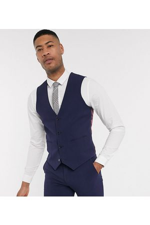 ASOS Tall super skinny suit waistcoat in four way stretch in navy