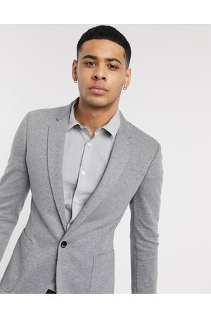 ASOS Super skinny jersey blazer in grey
