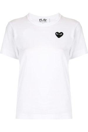Comme des Garçons Embroidered heart logo T-shirt