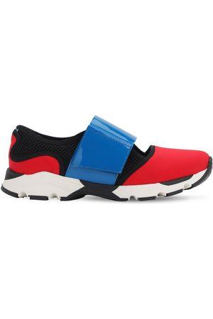 Marni Sneakers De Piel Con Correas De Neopreno