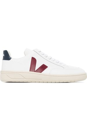 Veja White V-12 leather sneakers